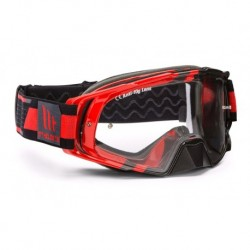 GAFAS MX EVO STRIPES NEGRO/ROJO