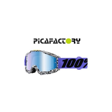 GAFAS 100% ACCURI BRENTWOOD OFFROAD MIRROR BLUE LENS
